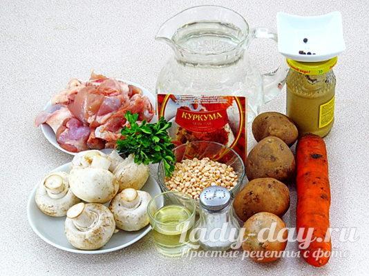 продукты на суп