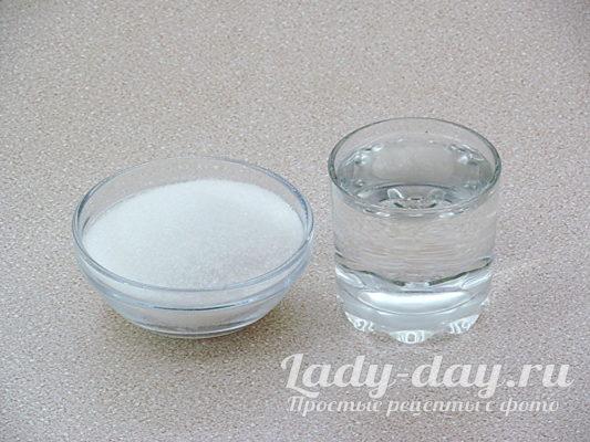 вода и сахар