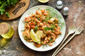 Фасоль с морепродуктами - фото шаг 9