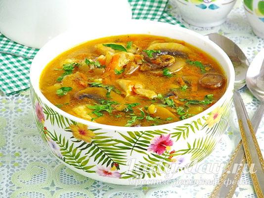 гороховый суп с курицей рецепт с фото пошагово