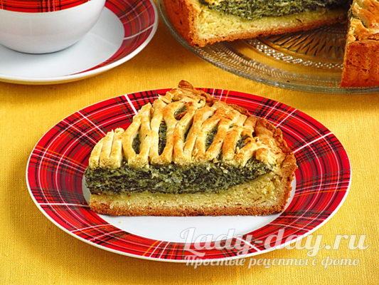 пирог с щавелем и творогом