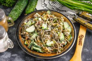 Салат с морской капустой и свежим огурцом - фото шаг 5