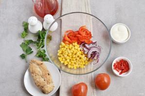 Салат с помидорами и куриным филе - фото шаг 2