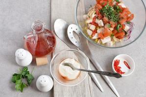 Салат с помидорами и куриным филе - фото шаг 4