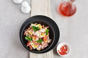 Салат с помидорами и куриным филе - фото шаг 5