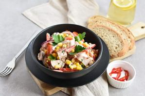 Салат с помидорами и куриным филе - фото шаг 6
