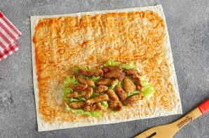 Сэндвич ролл с курицей - фото шаг 6
