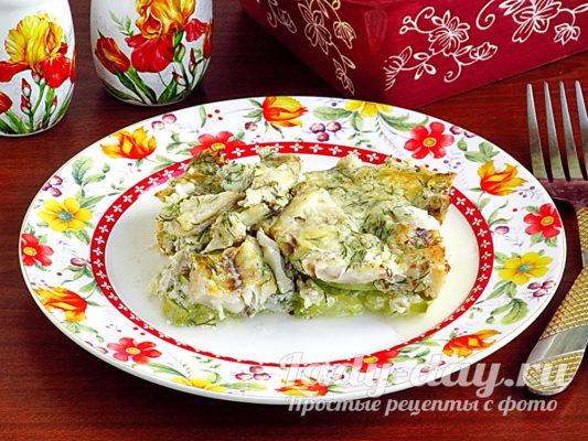 кабачки с рыбой в духовке