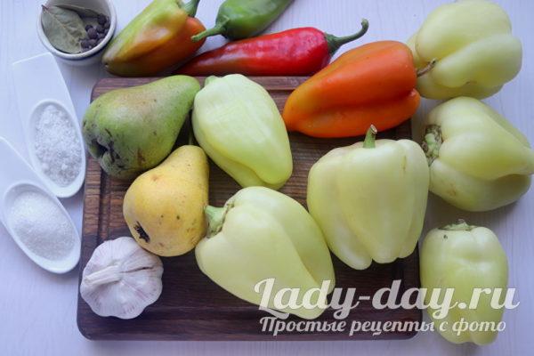 болгарский перец и груша