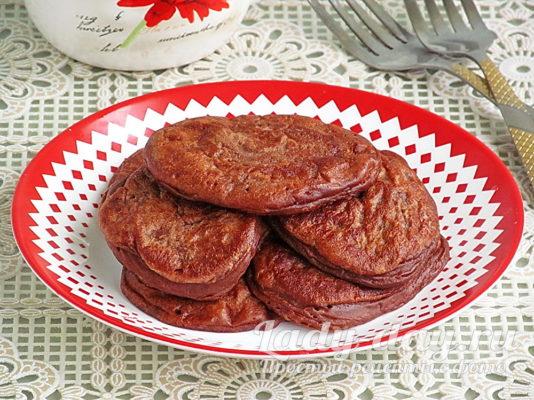 шоколадные оладьи на кефире