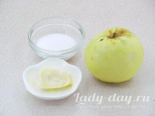 Яблочный десерт в креманках по быстрому рецепту