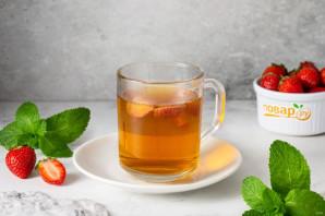 Чай с клубникой и мятой - фото шаг 6