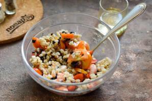 Салат с базиликом, креветками и перловкой - фото шаг 6