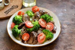 Салат с печенью и брокколи - фото шаг 5