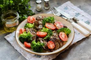 Салат с печенью и брокколи - фото шаг 6